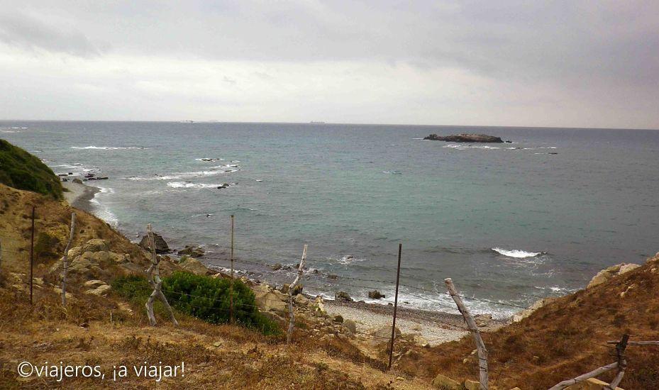 Estrecho. Cala Fuerte e Isla de las Palomas