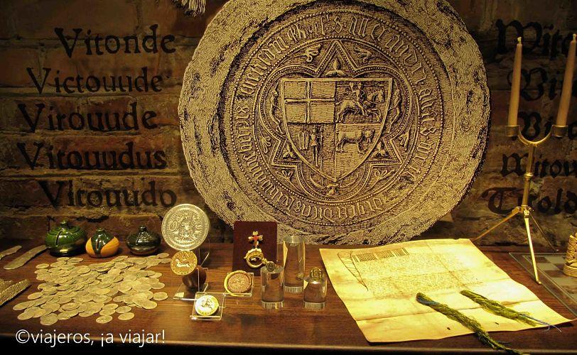 Trakai. interior del castillo