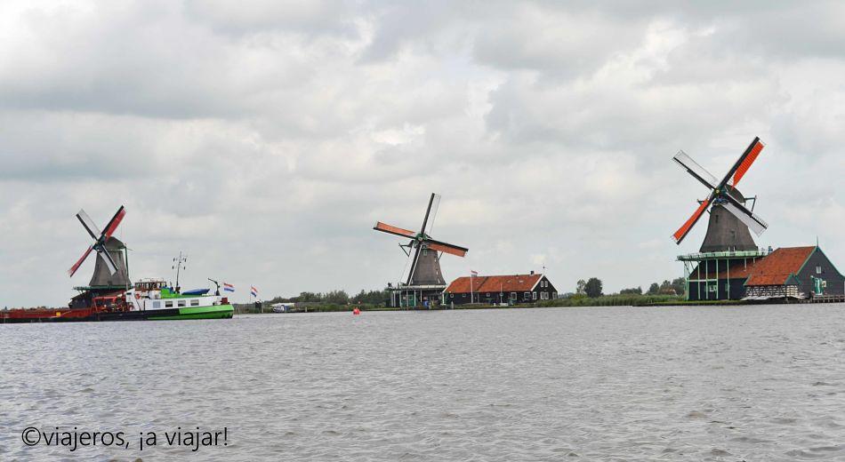 Molinos Zaanse Schans vistos desde el crucero