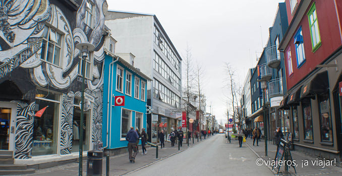 Reikiavik. Laugavegur calle comercial principal