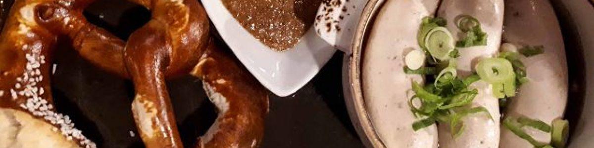 Weißwurst y bretzel