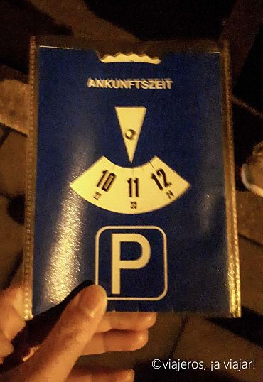 Disco de aparcamiento o parkscheibe