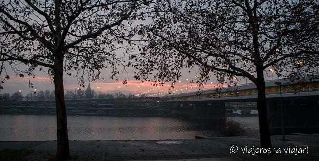 vista con el Danubio
